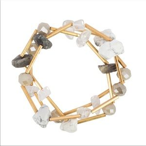 Gold and Natural Stone Bracelet